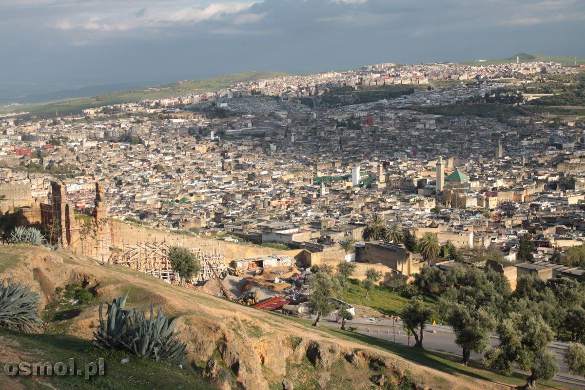 Maroko. Panorama Fezu