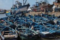 Essaouria łódki w porcie