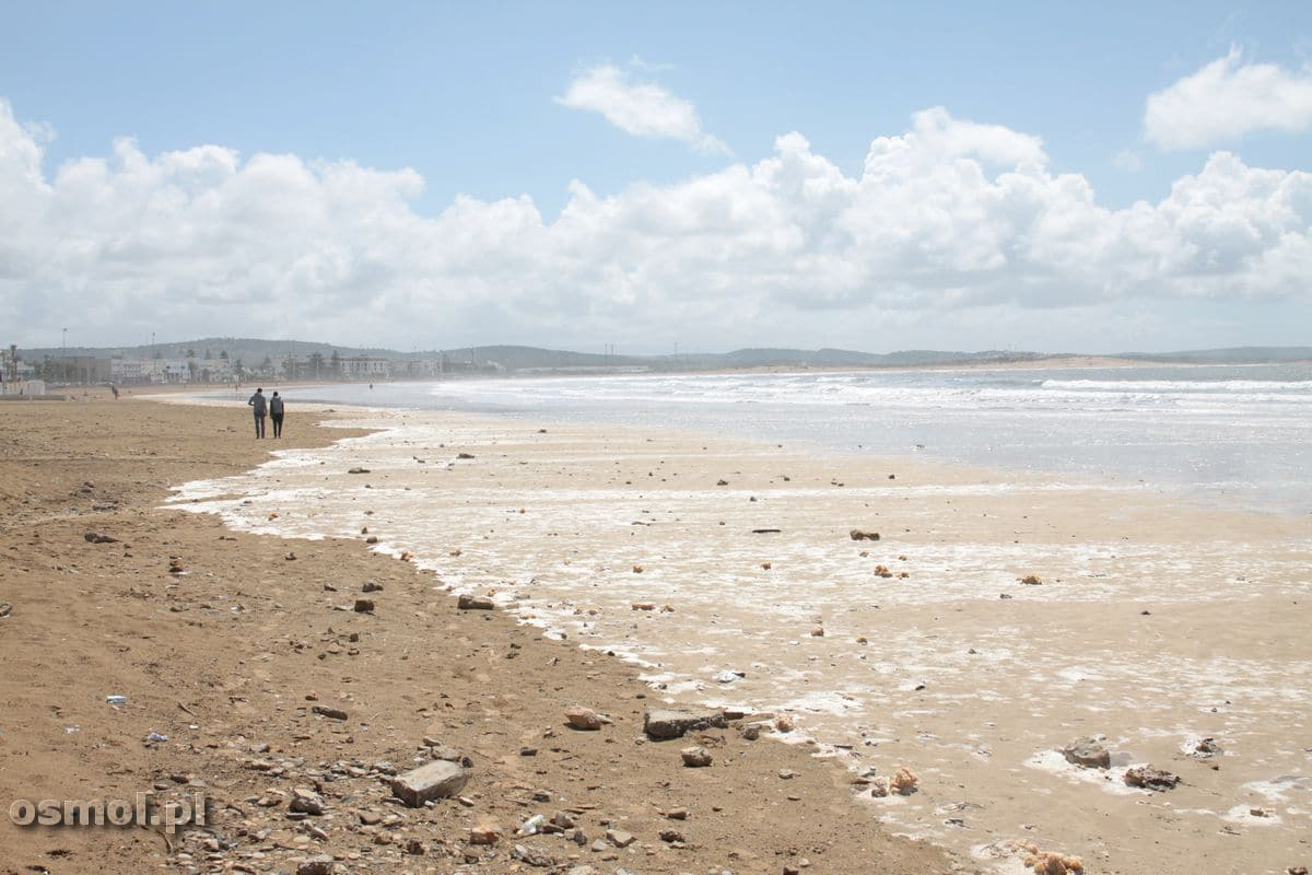 Plaża tuż obok portu w Essaourii