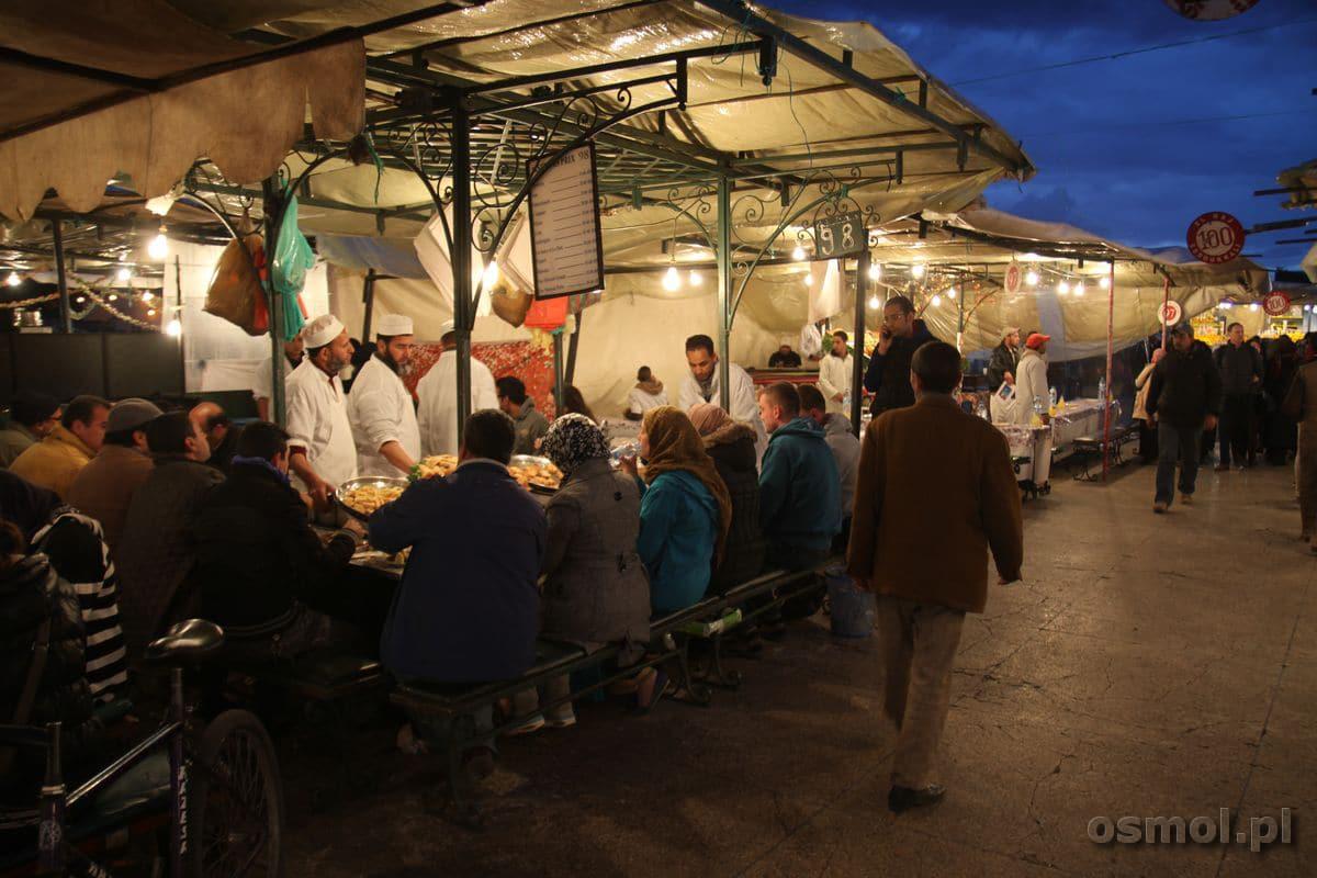 Jama el-Fna stoisko z jedzeniem