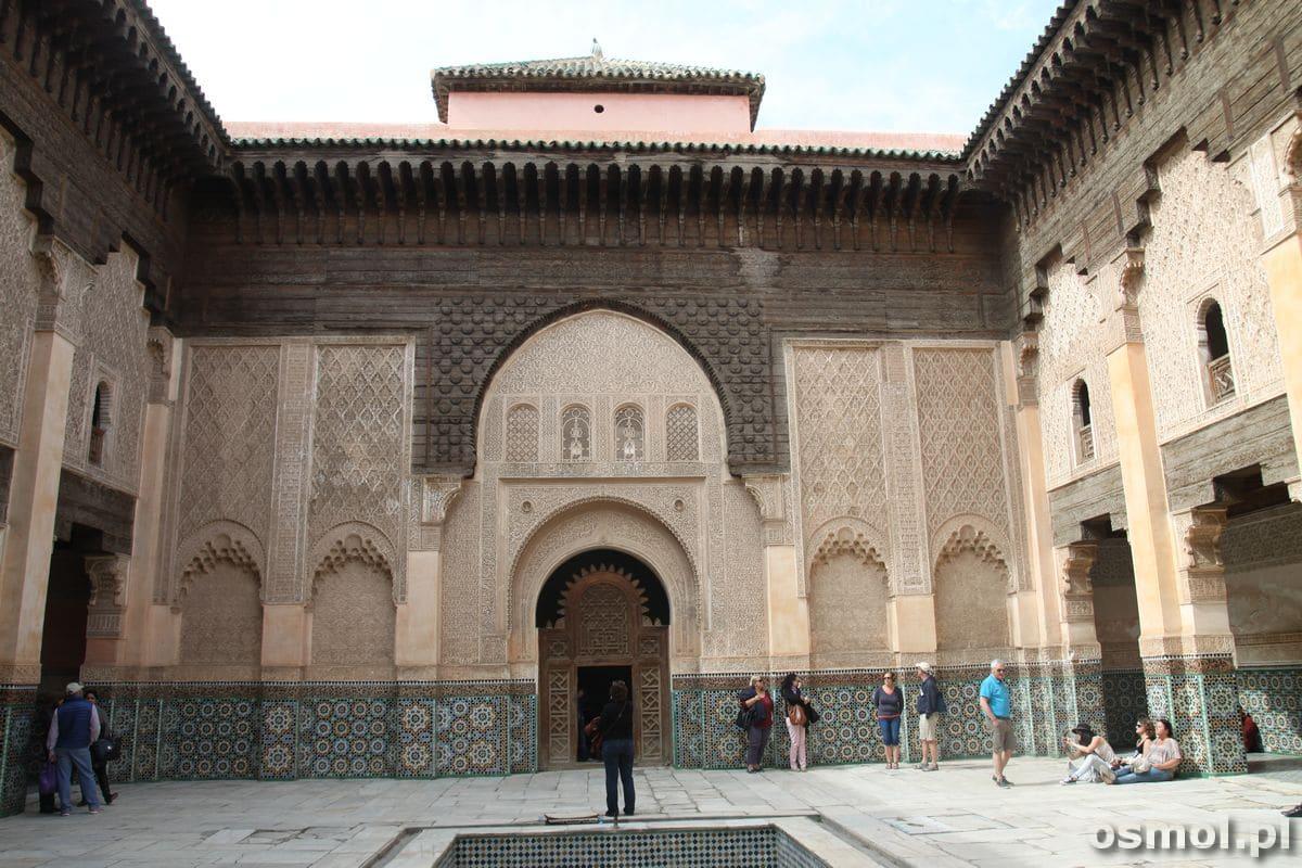 Medresa Ben Youssefa w Marakeszu czyli jedna z najważniejszych atrakcji Maroka
