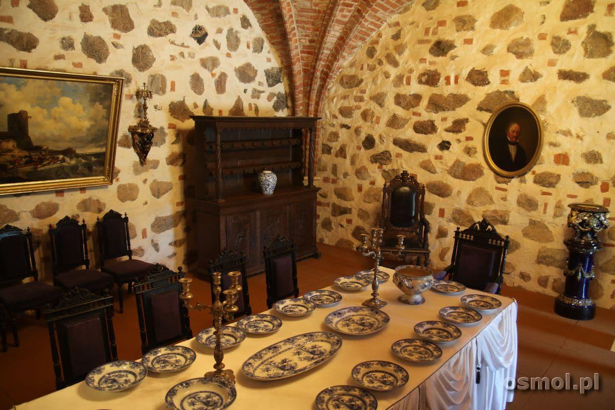 Ekspozycja w muzeum na zamku w Trokach