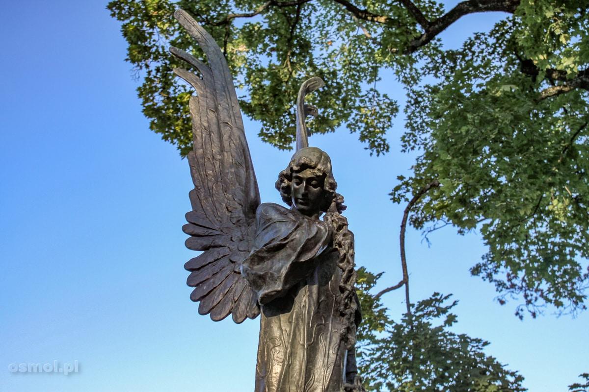 Cmentarz na Rossie w Wilnie. Czarny Anioł, zwany też Aniołem Śmierci, to najbardziej znany pomnik nekropolii.