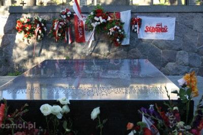 Płyta nagrobna matki marszałka Piłsudskiego