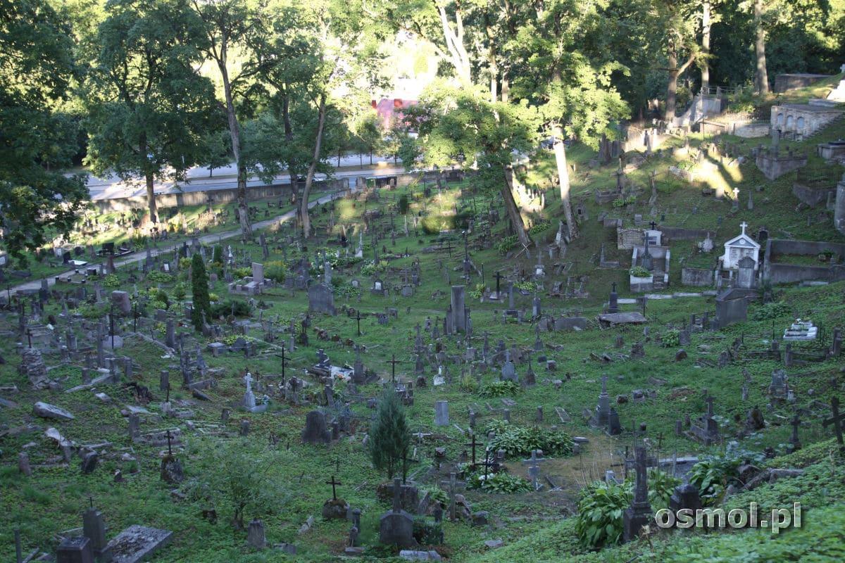 Cmentarz na Rossie w Wilnie - widok na grobowce