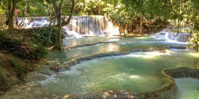 Wodospad Kuang Si w Laosie