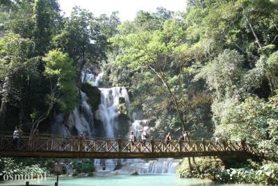 Wodospad Kuang Si - główna kaskada