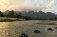 Krajobraz w okolicach Vang Vieng