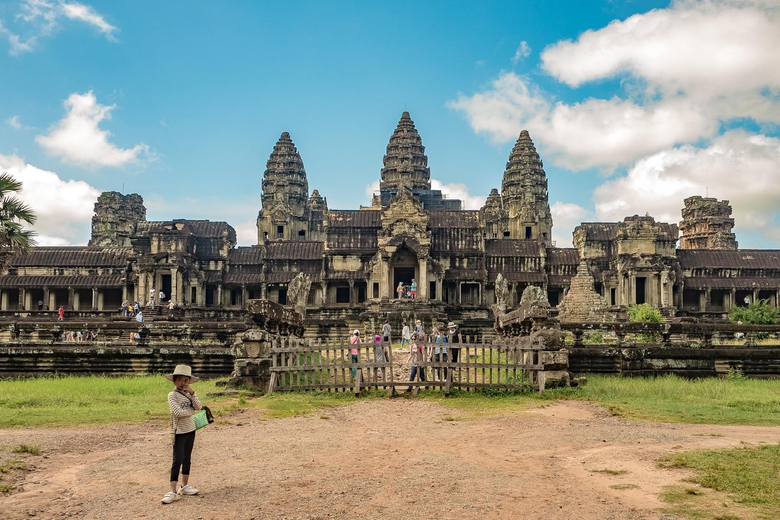 Angkor Wat widok z tyłu świątyni