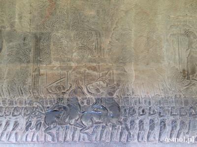 Płaskorzeźby w Angkorze