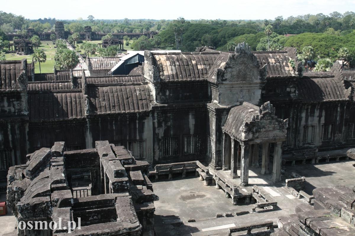 Świątynia Angkor Wat widziana z najwyzszego poziomu