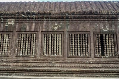 Charakterystyczne okna Angkor Wat