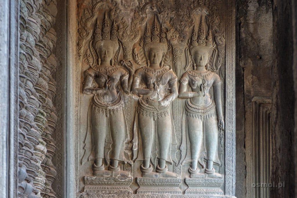 Płaskorzeźby w Angkor Wat