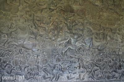 Scena Bitwy na płaskorzeźbie w Angkor Wat