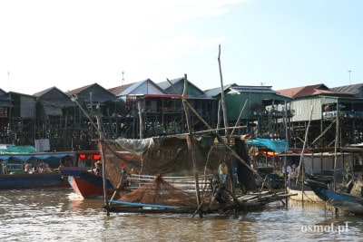Wioska Kampong Phluk w Kambodży