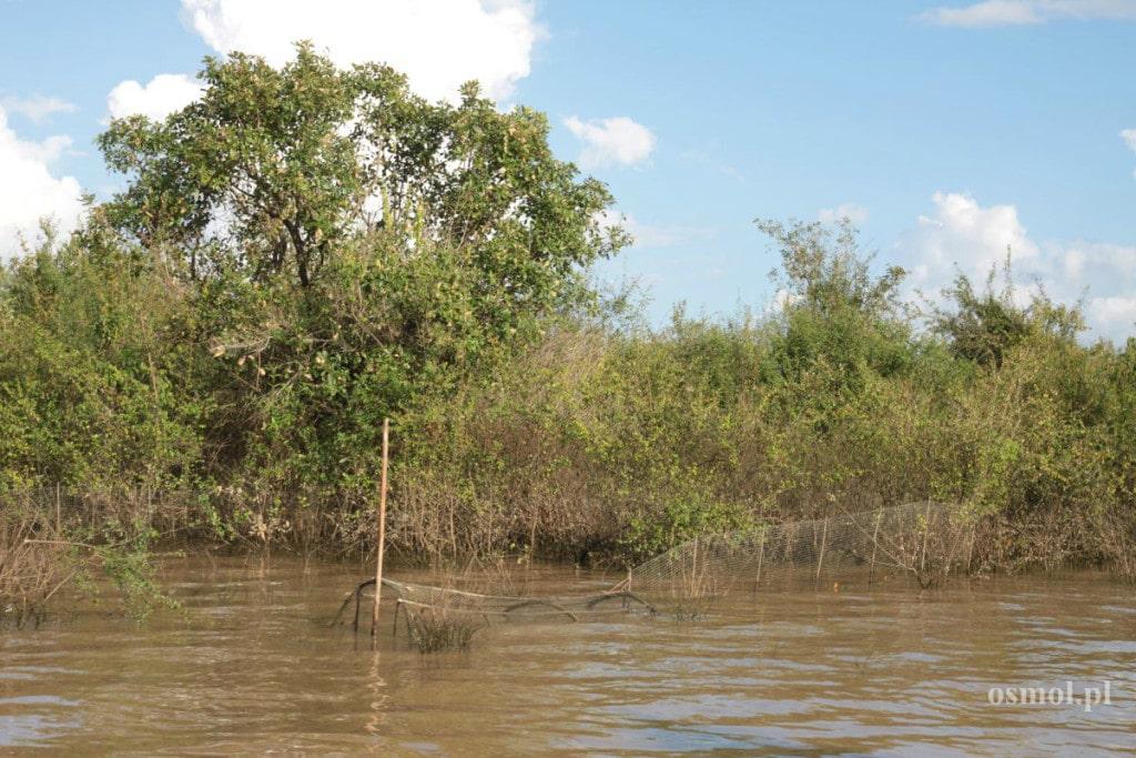 Sieci rybackie na Tonle Sap