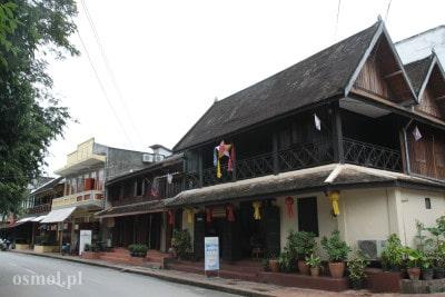 Stare domy w Luang Prabang Laos