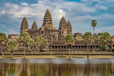 Widok na Angkor Wat Kanbodża