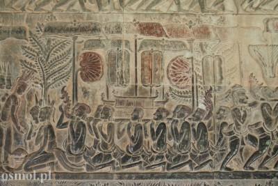 Płaskorzeźba na pierwszym poziomie Angkor Wat