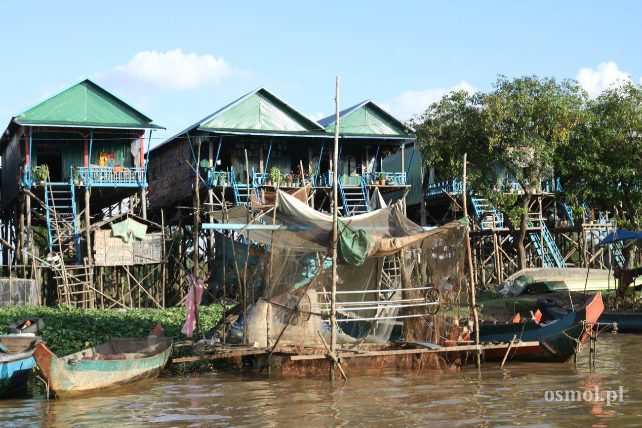 Tonle Sap i wioska Kampong Phluk