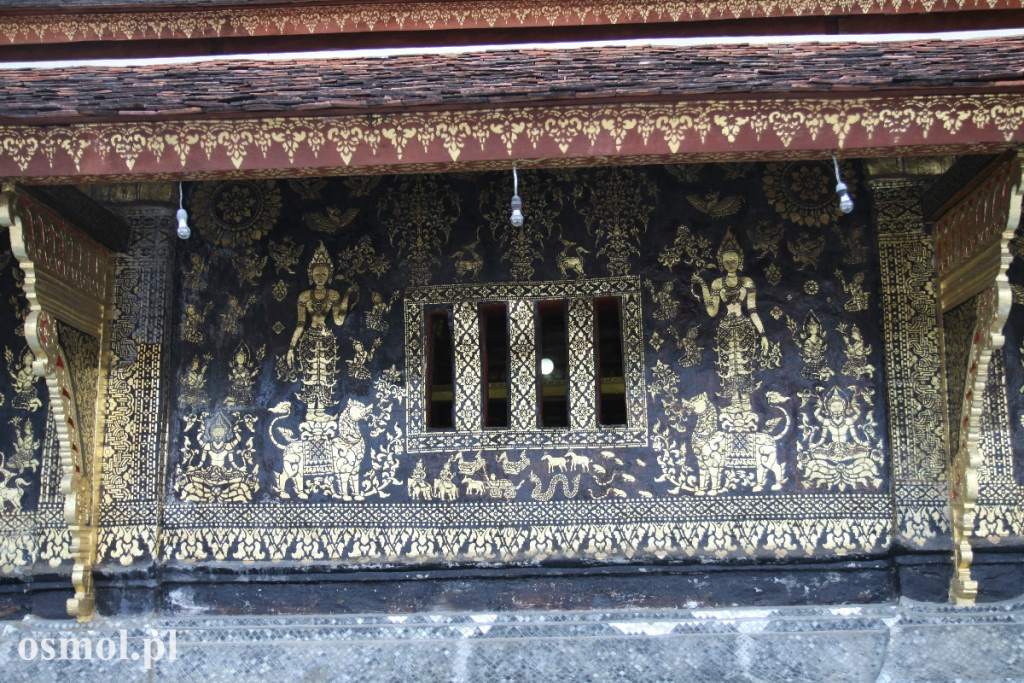 Swiatynia Wat Xieng Thong - zdobienia z zewnatrz