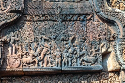 Płaskorzeźby w Banteay Srei