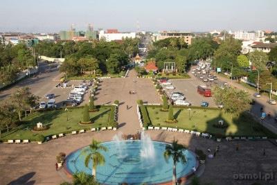 Widok z Patuxai w Wientian