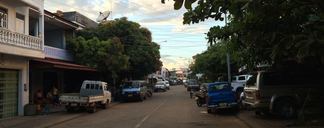Ulica w Pakse w Laosie