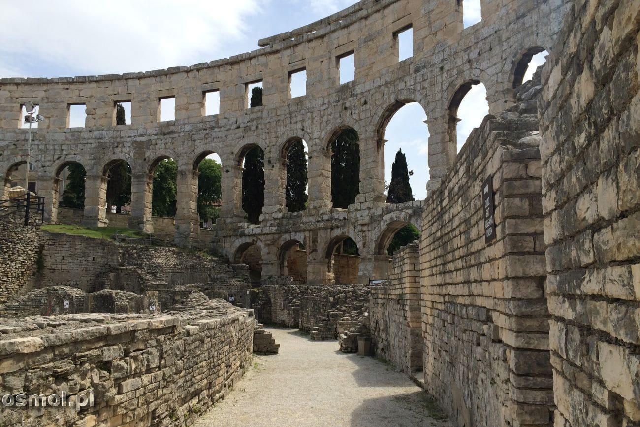 Amfiteatr w Puli - pozostałości dolnej kondygnacji