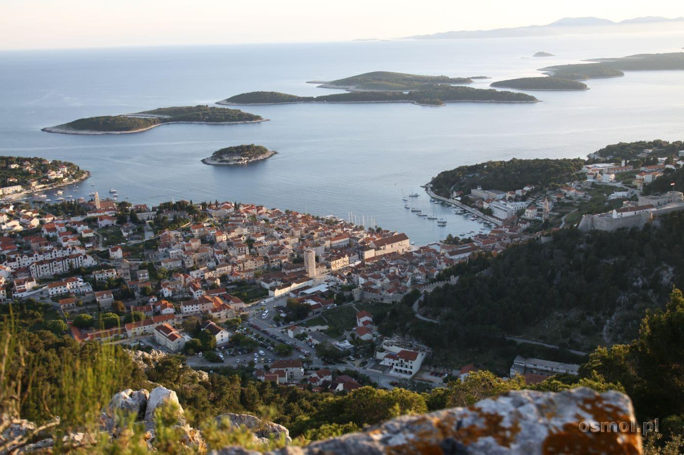 Panorama Hvaru i okolicznych wysp