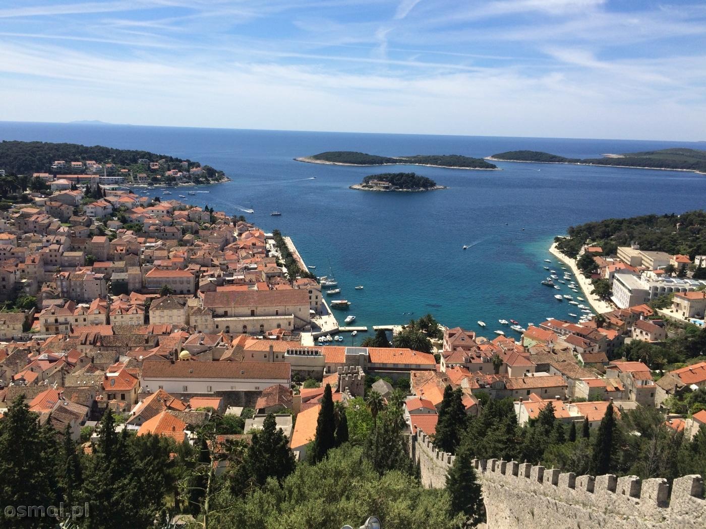 Widok na Hvar w Chorwacji
