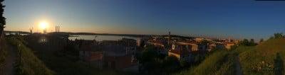 Panorama Hvaru widziana ze wzgórza
