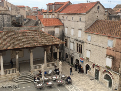 Trogir w Chorwacji. Plac Jana Pawła II