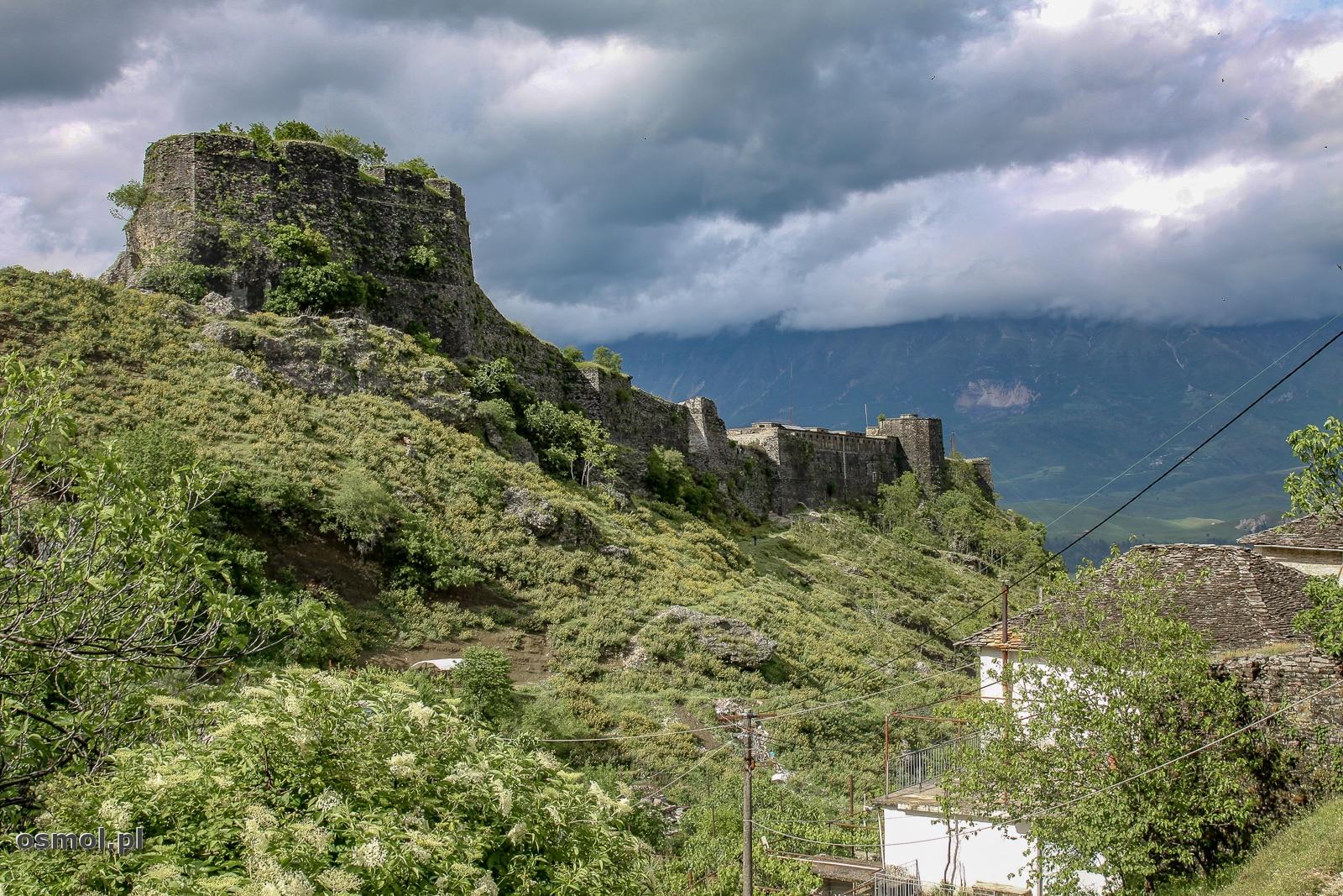 Panorama zamku w Gjirokastrze