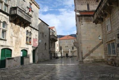 Korcula glowny plac starego miasta