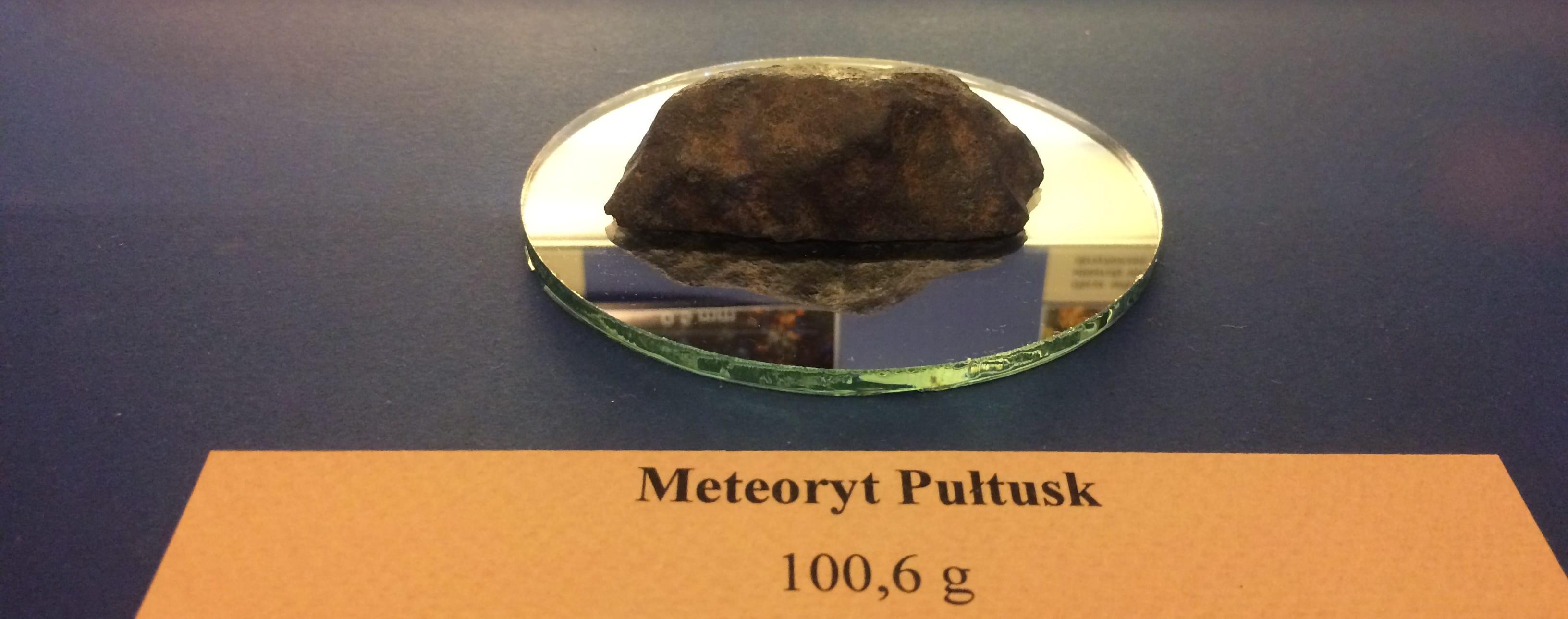 meteoryt Pułtusk - fragment kosmicznej skały
