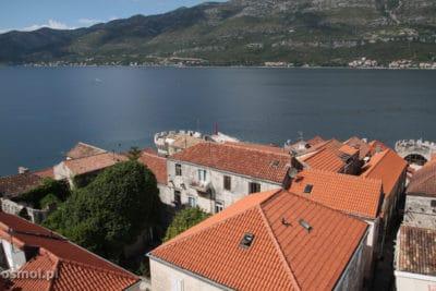 Panorama z kosciola sw Marka w Korculi Chorwacja