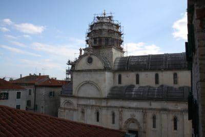 Dach katedry sw Jakuba w Szybeniku