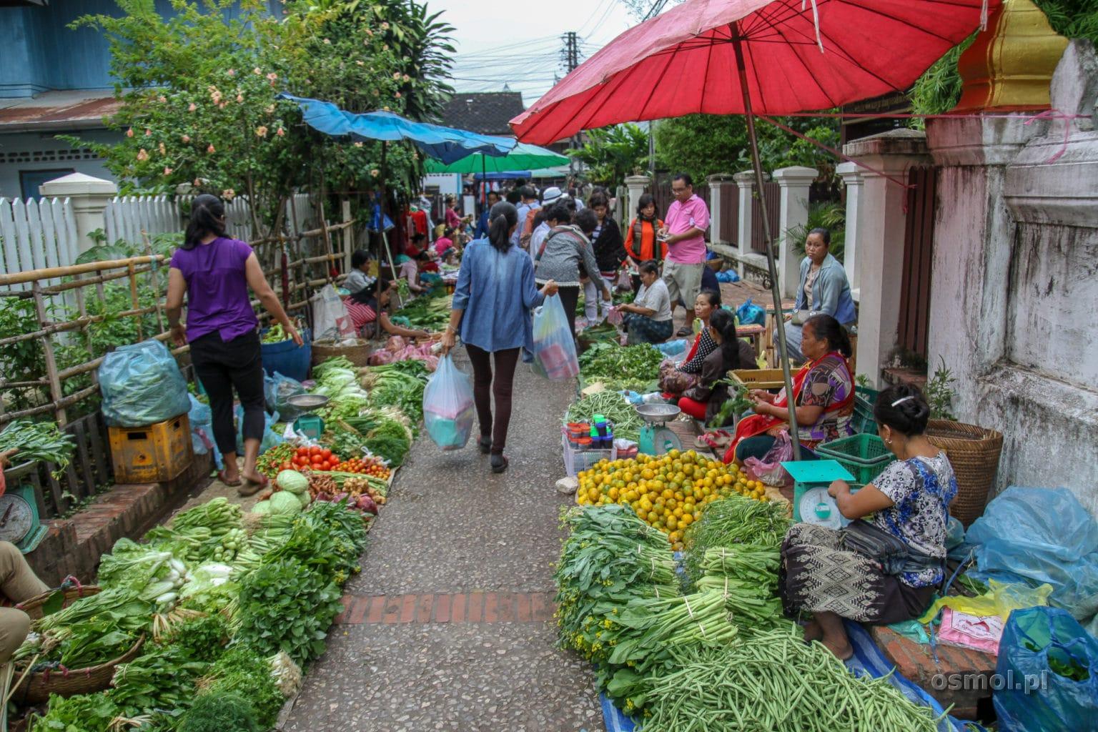 Targ Warzywny w Luang Prabang