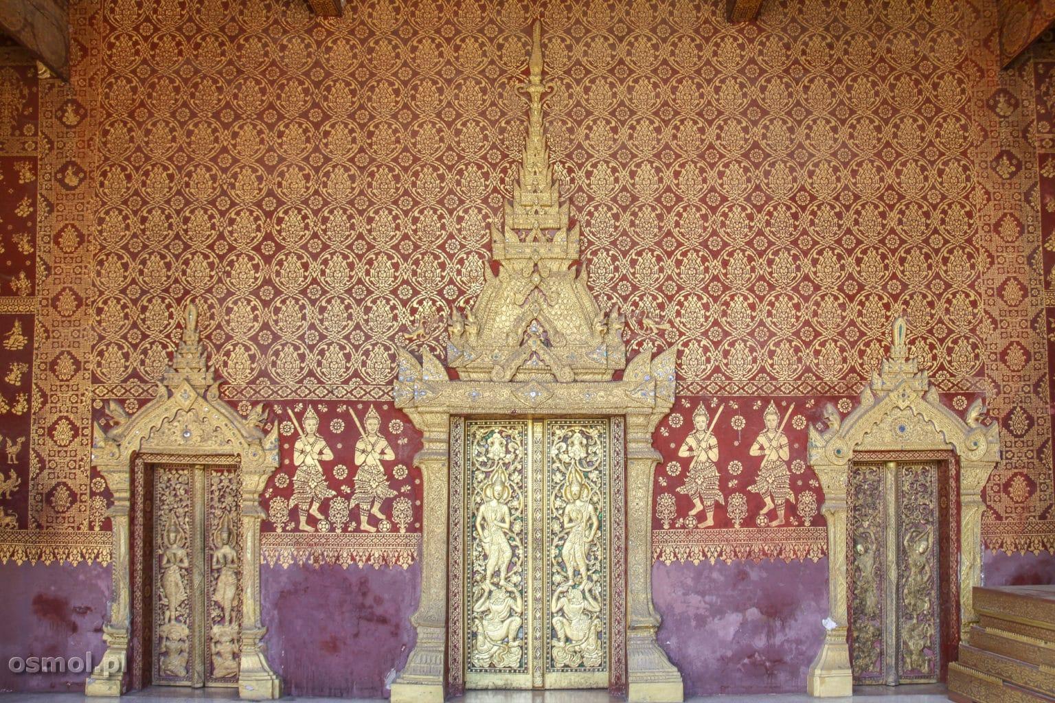 Wzory na świątyni w Luang Prabang