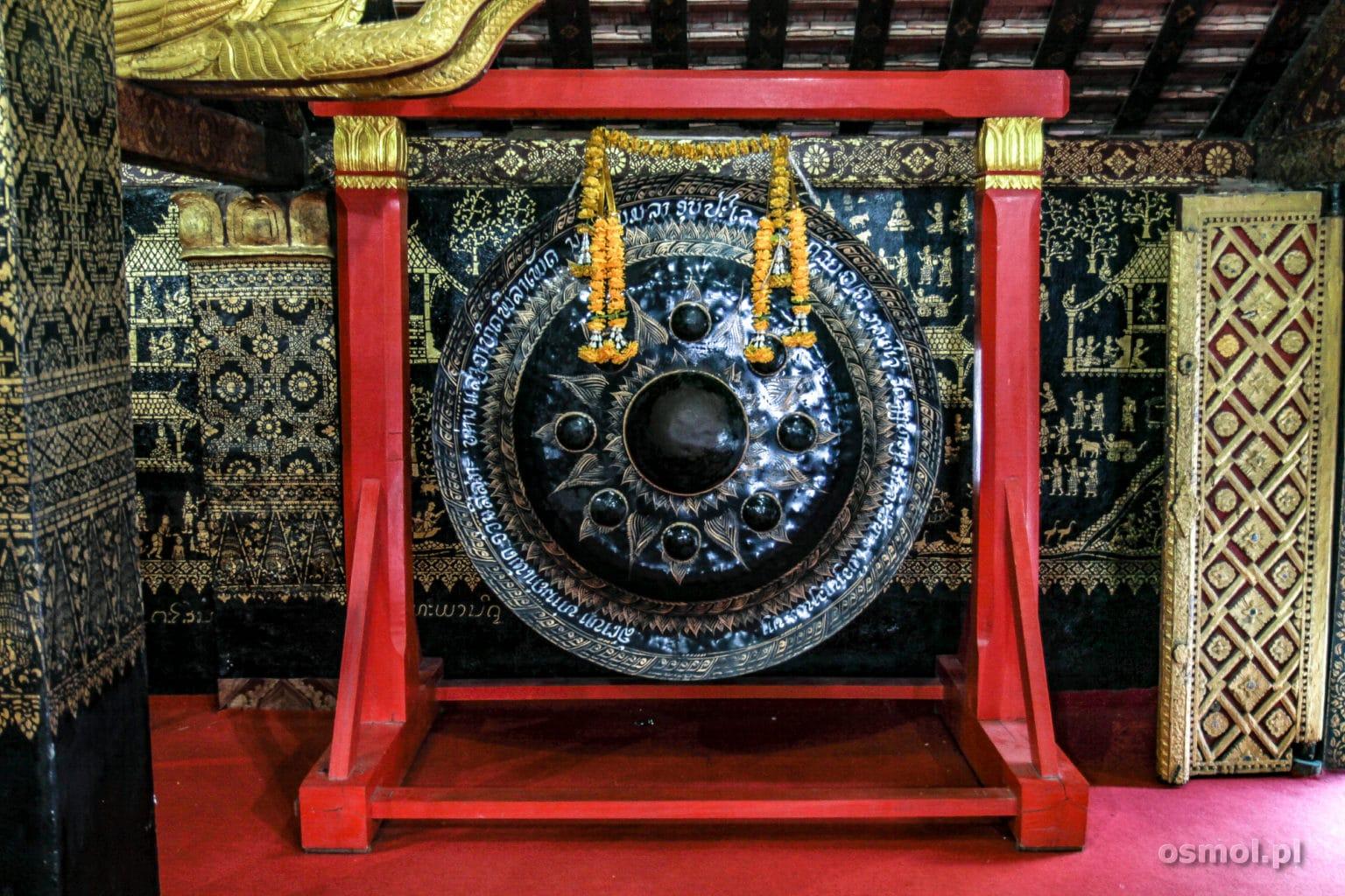 Dzwon w Świątyni Luang Prabang