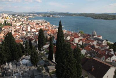 Szybenik - widok na starą część miasta