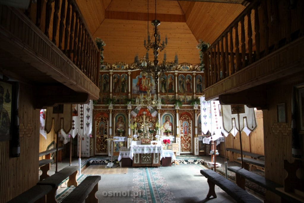 Wnętrze kosciola w Gaju Szewczenki
