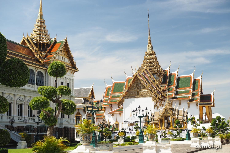 Tradycyjne zabudowania Pałacu Królewskiego w Bangkoku