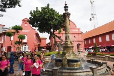 Fontanna na placu Holenderskim - Malakka