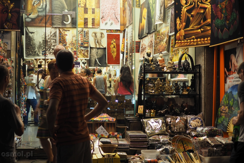 Sklep z pamiątkami w Bangkoku