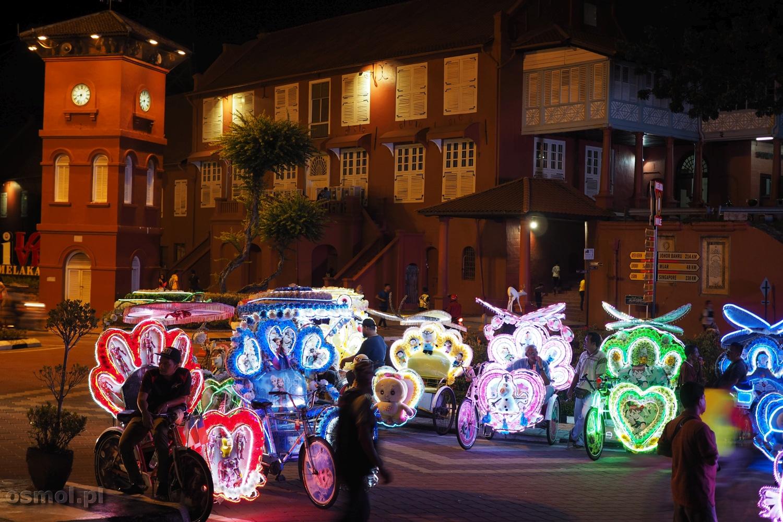 Riksze rowerowe w Malakce Malezja