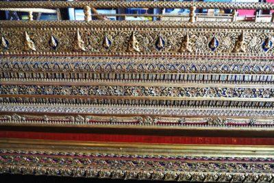 Zdobienia na łodzi w Muzeum Królewskich Łodzi Bangkok