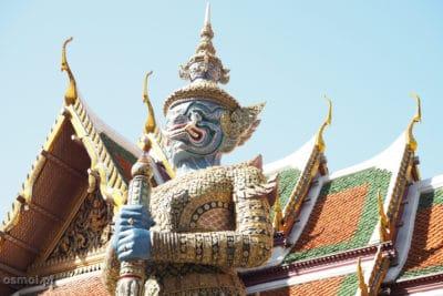 Tradycjny dach w Pałacu Krolewskim bangkok