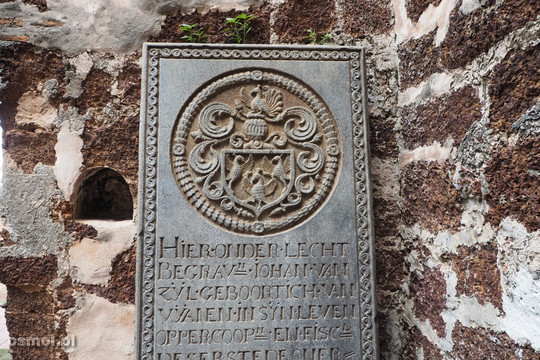 Płyta nagrobna w kościele w Malakce